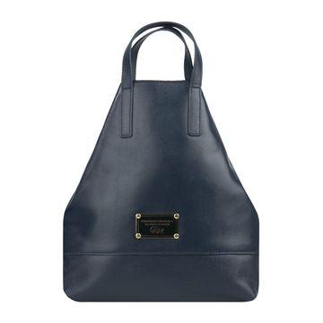 сумка-рюкзак женский из натуральной кожи (синий)