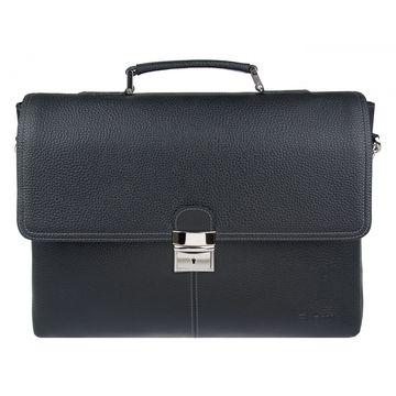Мужской кожаный портфель с отделением для ноутбука