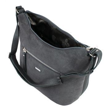 сумка женская из натуральной замши (серая)