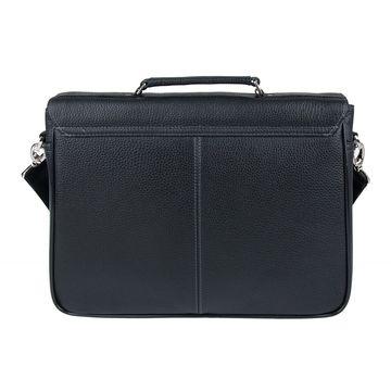 Портфель мужской кожаный чёрный