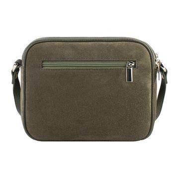 сумка женская из натуральной замши (хаки)