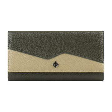 Женский кожаный кошелёк на кнопке на полную купюру