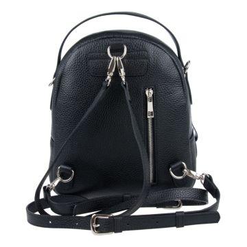 рюкзак женский из натуральной замши (чёрный)