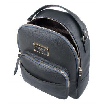 рюкзак женский из натуральной кожи (серый)