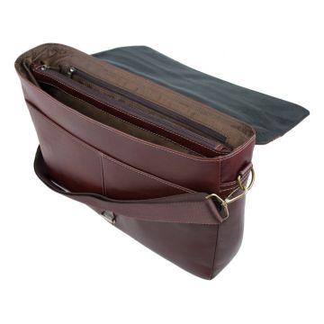 портфель мужской из натуральной кожи (коричневый)