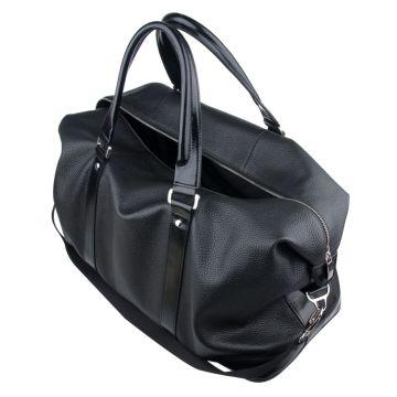 большая мужская сумка из натуральной кожи