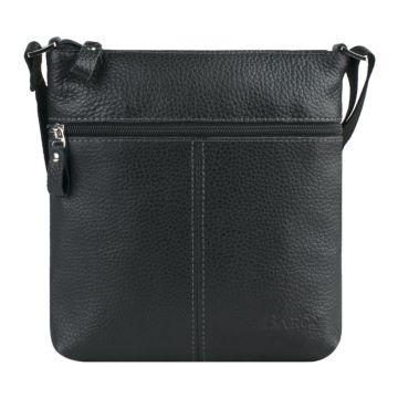 мужская сумка-планшет из натуральной кожи (черный)