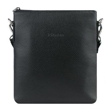 сумка-планшет мужская кожаная (чёрная)