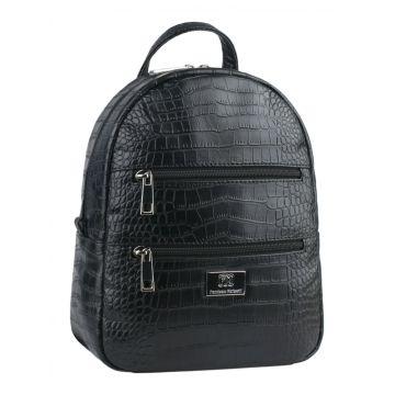 рюкзак женский из искусственной кожи (чёрный)