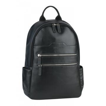 мужской кожаный рюкзак (черный)