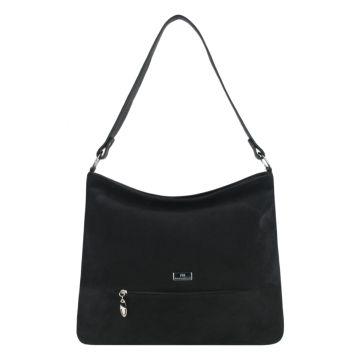 сумка женская из натуральной замши (чёрная)
