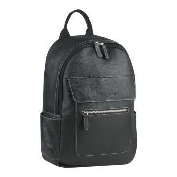 мужской кожаный рюкзак с отделением для планшета (черный)