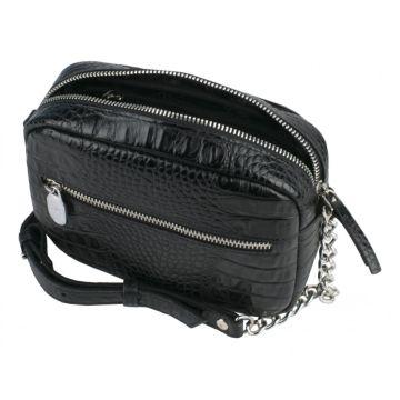 сумочка женская из натуральной кожи (чёрная)