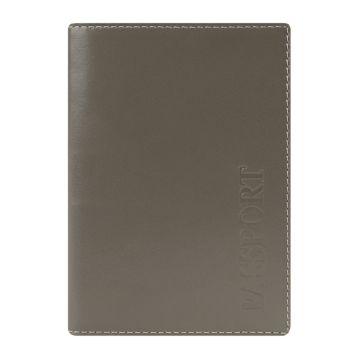 светло-коричневая кожаная обложка для паспорта с карманами для карт
