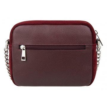 сумка женская замшевая через плечо (вишнёвая)