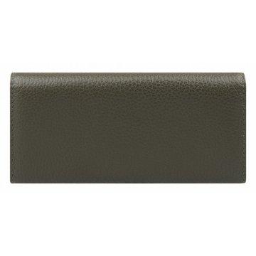 Женский кожаный кошелёк на полную купюру цвета хаки