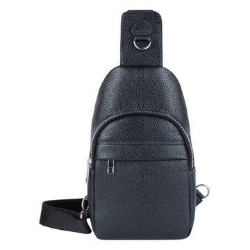 мужская нагрудная сумка из натуральной кожи