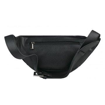 сумка женская поясная замшевая (чёрная)