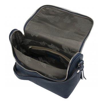 Маленькая женская сумочка кожаная синяя