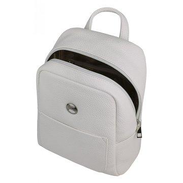 рюкзак женский из искусственной кожи (белый)