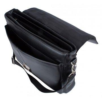портфель мужской из натуральной кожи (чёрный)