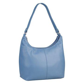 Женская сумка голубая из экокожи на среднем ремне