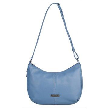 сумка женская из искусственной кожи (голубая)