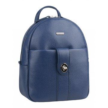 рюкзак женский из натуральной кожи (сапфировый)