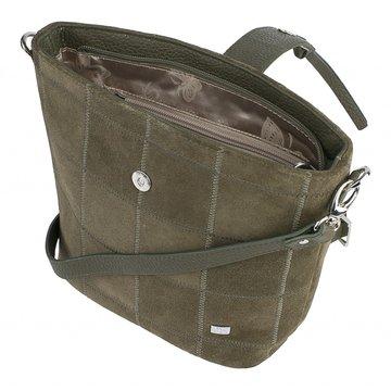 сумка женская замшевая через плечо (хаки)