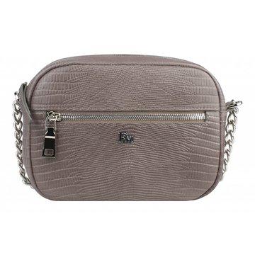 Женская сумочка через плечо на цепочке кожаная