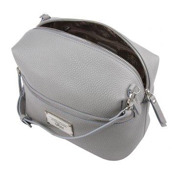 сумка женская из натуральной кожи (св.-серая)