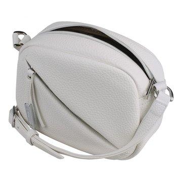 сумка женская из искусственной кожи (белая)