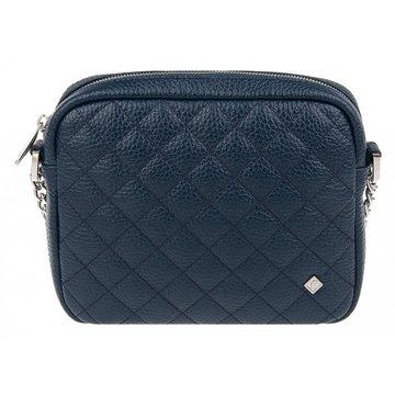сумочка женская из натуральной кожи (синяя)