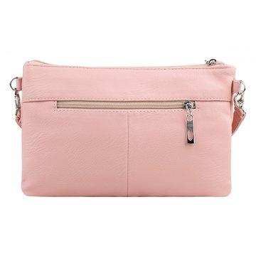 сумка женская из искусственной кожи (розовая)