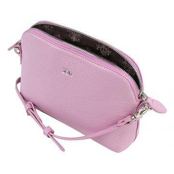 Женская сумка из натуральной кожи через плечо розовая