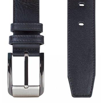 Мужской классический кожаный ремень чёрный