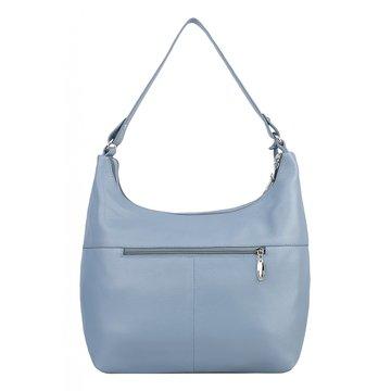 Женская сумка голубая из натуральной кожи
