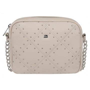Женская светлая сумочка через плечо на цепочке