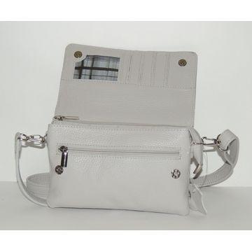 женская сумка из натуральной кожи «грейс» (серая)