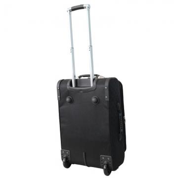 чемодан текстильный на 2-х колесах 67 литров (черный)
