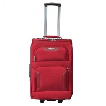 чемодан текстильный на 2-х колесах 67 литров (красный)