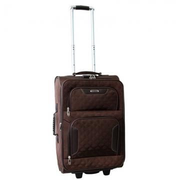 чемодан текстильный на 2-х колесах 67 литров (коричневый)