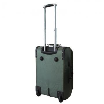 чемодан текстильный на 2-х колесах 67 литров (зеленый)