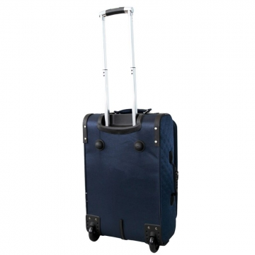чемодан текстильный на 2-х колесах 67 литров (синий)