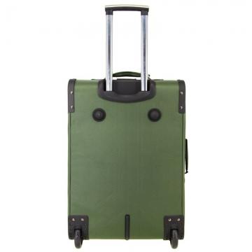 большой чемодан на 2-х колесах 91 литр (зеленый)