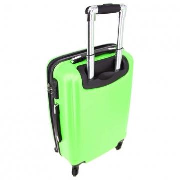 чемодан пластиковый на 4-х колёсах, 52 литра (зелёный)