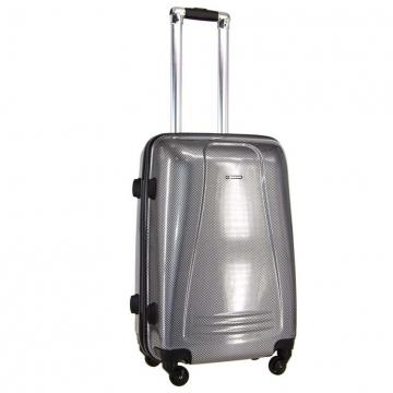 чемодан пластиковый на 4-х колёсах, 52 литра (шахматы)