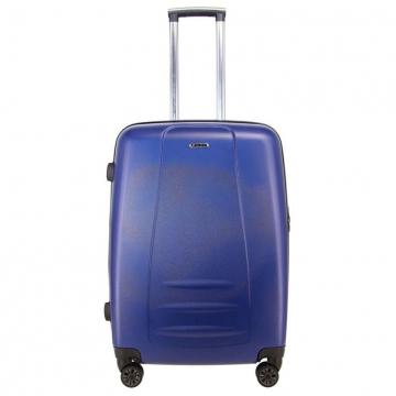 чемодан пластиковый на 4-х колёсах, 62 литра (синий)