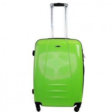 чемодан пластиковый на 4-х колёсах, 62 литра (зелёный)