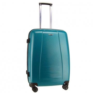 чемодан пластиковый на 4-х колёсах, 62 литра (бирюзовый)